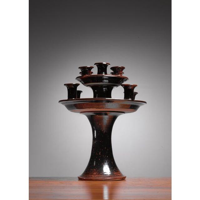 Helle Allpass ceramic candelabra, Denmark, 1960s - Image 2 of 5
