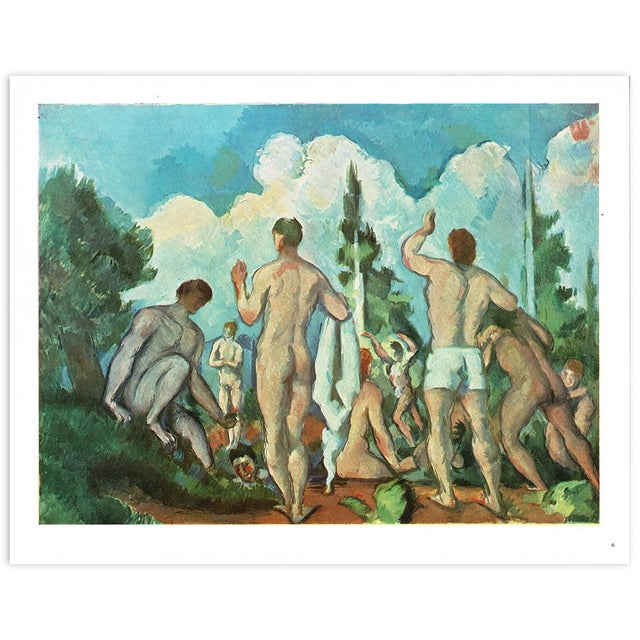 """1940s 1940s Paul Cezanne """"Bathers"""" Swiss Color Plate For Sale - Image 5 of 6"""