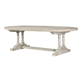 1950s Italian Oval Painted Turned Leg Dining Table For Sale