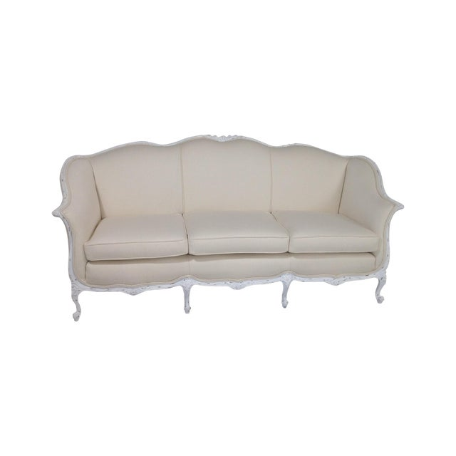Antique Country French Shabby Chic Sofa | Chairish