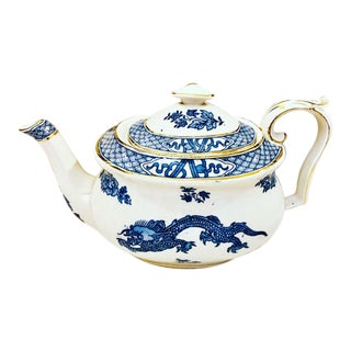 1930s Booth's Chinoiserie Dragon Gilt Teapot For Sale