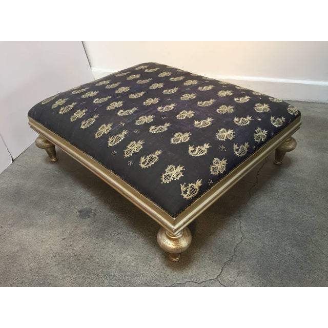Metal Middle Eastern Ottoman from Lebanon For Sale - Image 7 of 10