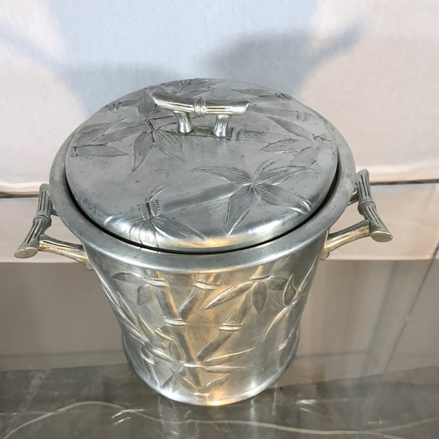 Aluminum Bamboo Ice Bucket - Image 3 of 9