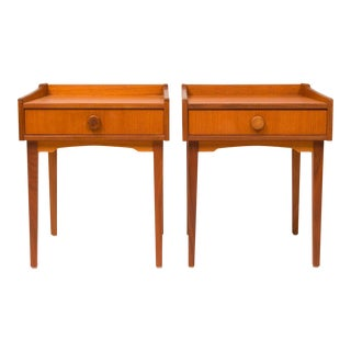 Vintage Danish Mid-Century Teak Night Stands - a Pair For Sale
