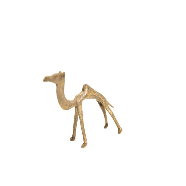 African Medium Vintage African Bronze Camel For Sale - Image 3 of 3