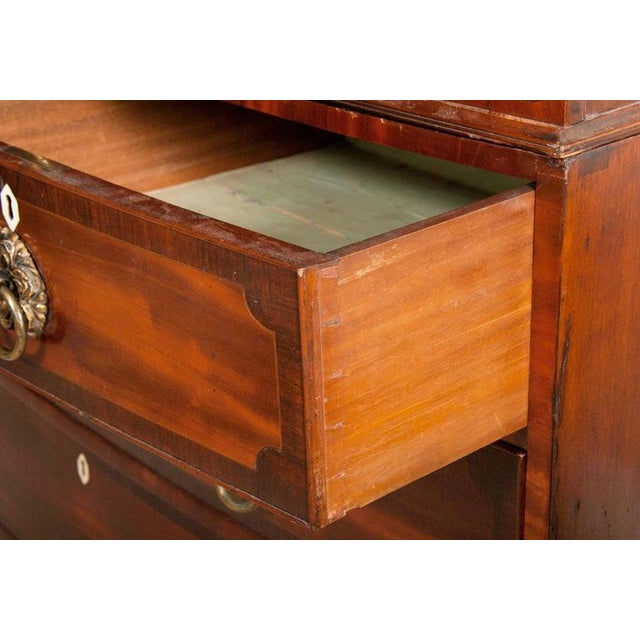 Mahogany Fine George III Mahogany and Rosewood Linen Press For Sale - Image 7 of 10