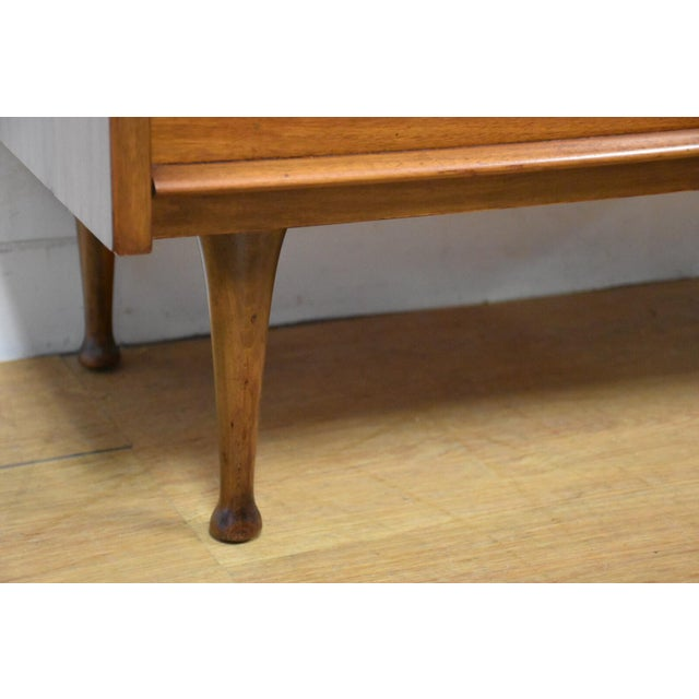 Walnut & Formica Tall Dresser - Image 6 of 9