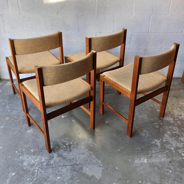 Mid-Century Modern Vintage Mid Century Danish Modern Style Dining Chairs (Set of Four) For Sale - Image 3 of 13