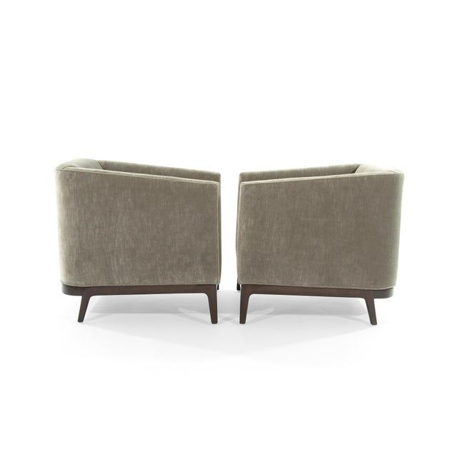 Mid-Century Modern Tub Chairs in Chenille For Sale - Image 4 of 12