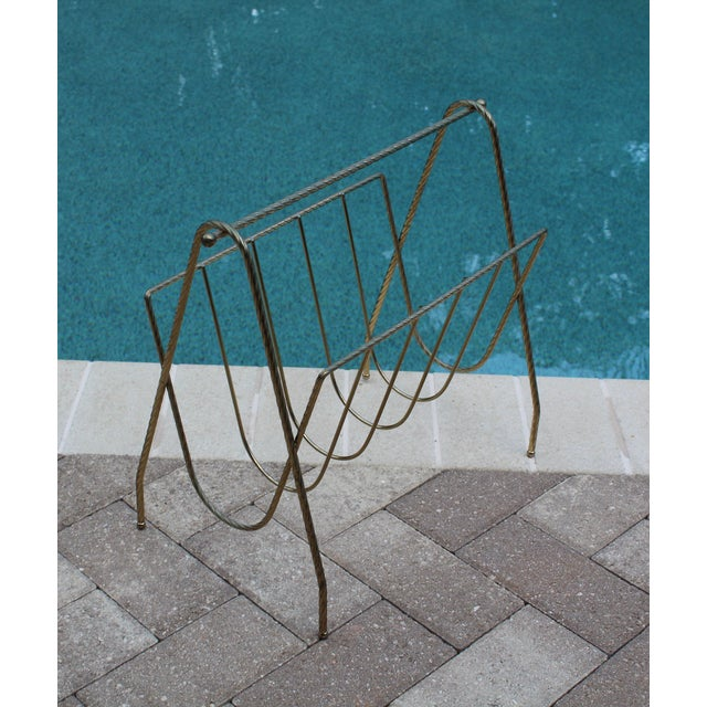 Mid-Century Magazine Rack For Sale - Image 4 of 5