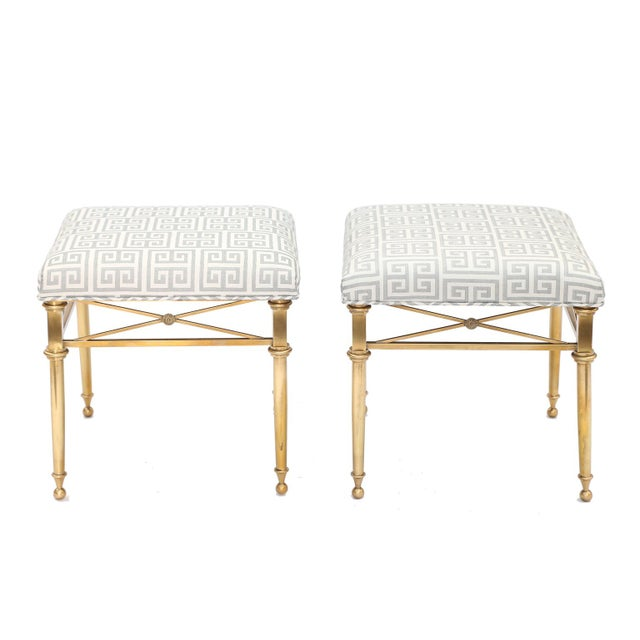 Brass Pair of Brass Stools For Sale - Image 7 of 7