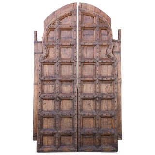Early 19th Century Heavily Fortified Arch Doors For Sale