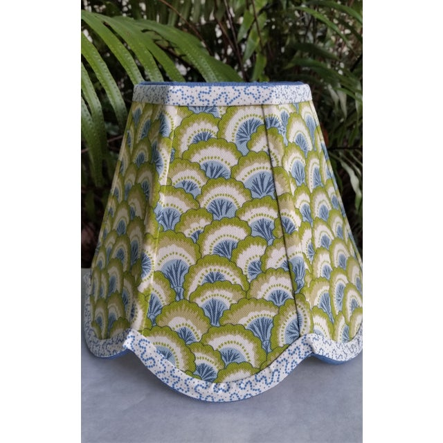 Boho Chic Lampshade Clip on Brunschwig Fils Fabric For Sale - Image 3 of 10