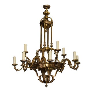 Antique Chandelier, Neoclassical Chandelier For Sale