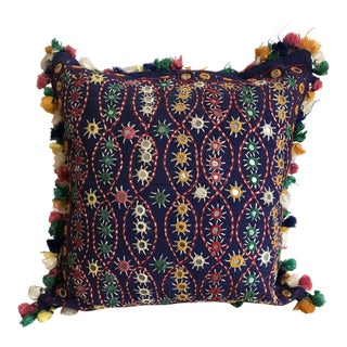 Anglo-Indian Tassel Pillow For Sale