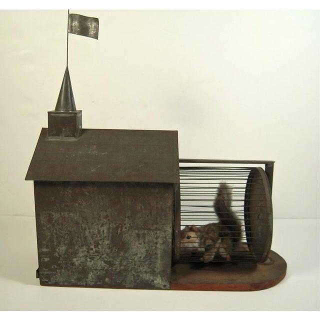 Rare 19th Century American Folk Art Architectural Squirrel Cage - Image 1 of 9