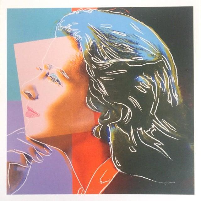 "1980s Andy Warhol Estate Vintage 1989 Pop Art Lithograph Print "" Ingrid Bergman Herself "" 1983 For Sale - Image 5 of 10"