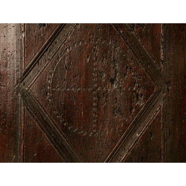 Wood Antique French Carved Two-Panel Coffer For Sale - Image 7 of 11