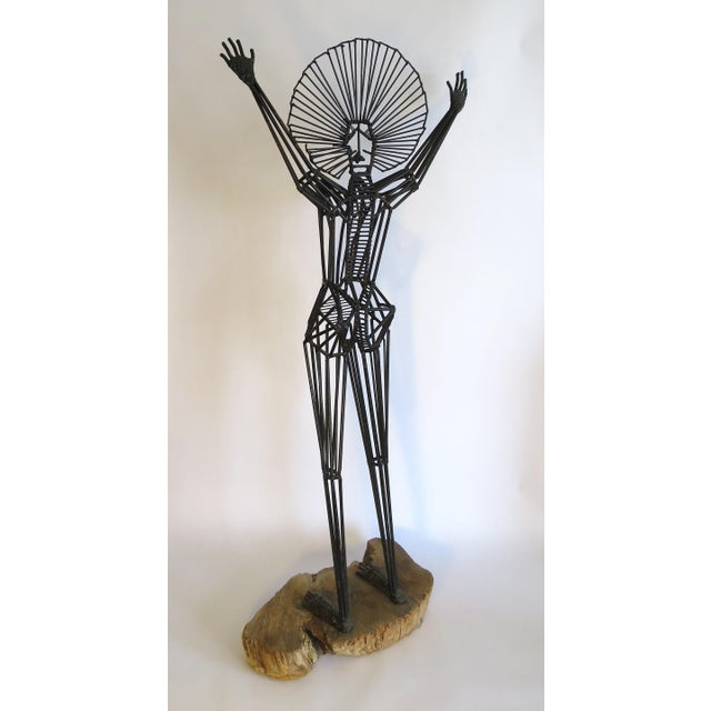 Mid-Century Abstract Figurative Metal Sculpture - Image 9 of 9