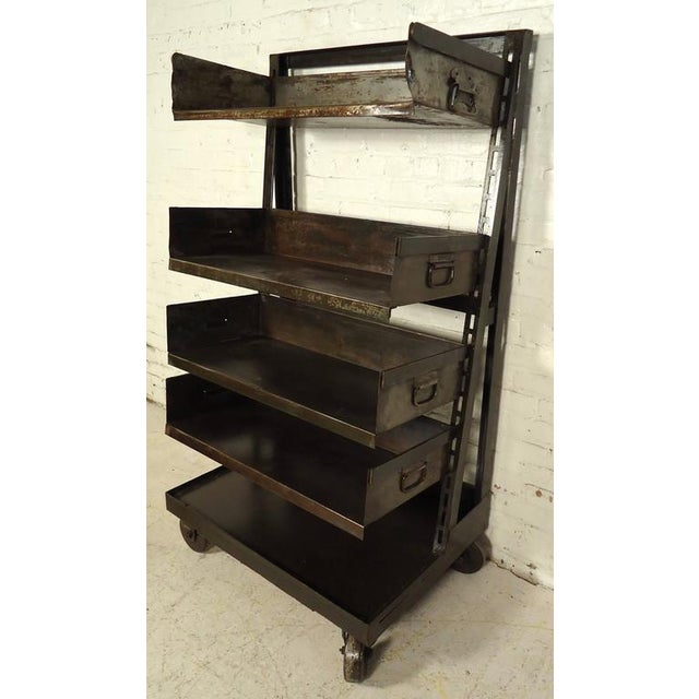 Industrial Five Level Shelving Unit For Sale In New York - Image 6 of 8