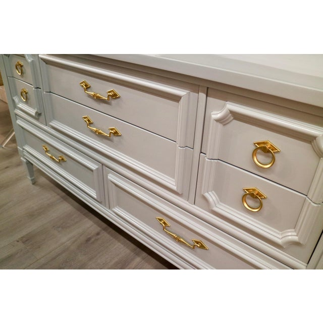 Vintage Grey Custom Lacquered Chest - Image 2 of 7