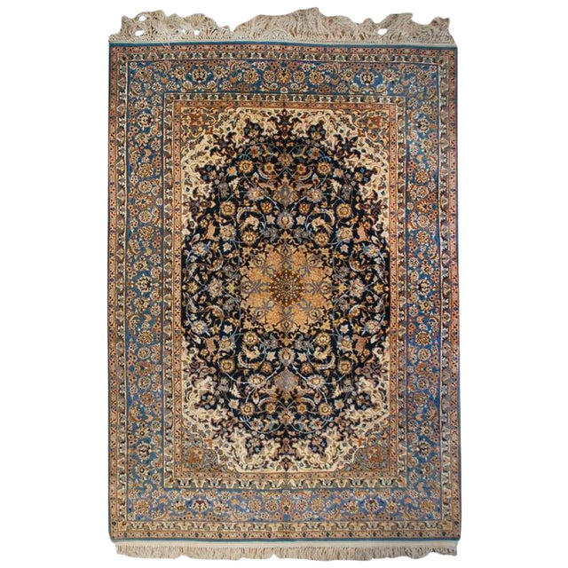 Whimsical Early 20th Century Isfahan Rug - 5′1″ × 7′7″ For Sale