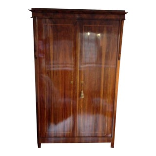 19th Century Charles Joseph Biedermeier Walnut Armoire
