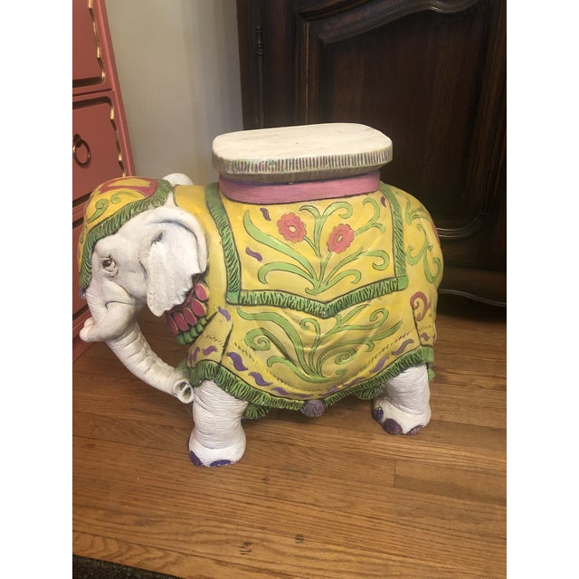 1960s Elephant Garden Stool For Sale - Image 11 of 12