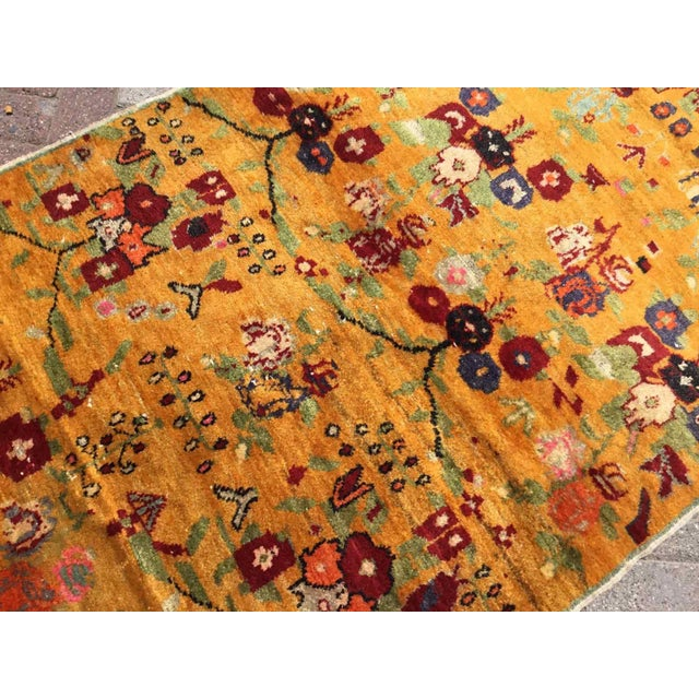 Orange Orange Vintage Hand Knotted Turkish Rug For Sale - Image 8 of 11