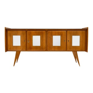 Mid-Century Italian Mirrored Buffet For Sale
