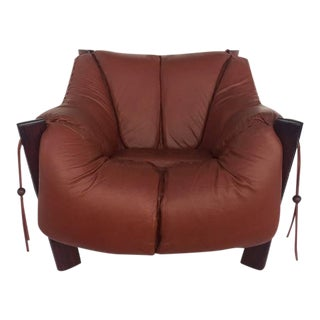 Jacaranda Rosewood & Leather Lounge Chair by Percival Lafer For Sale
