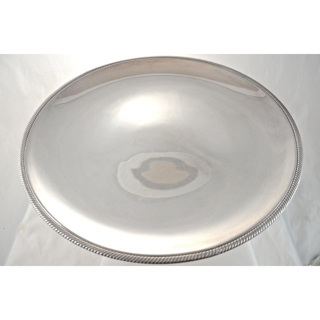 """Oversize 17"""" Round Silver Tray, Circa 1950s - Image 2 of 4"""