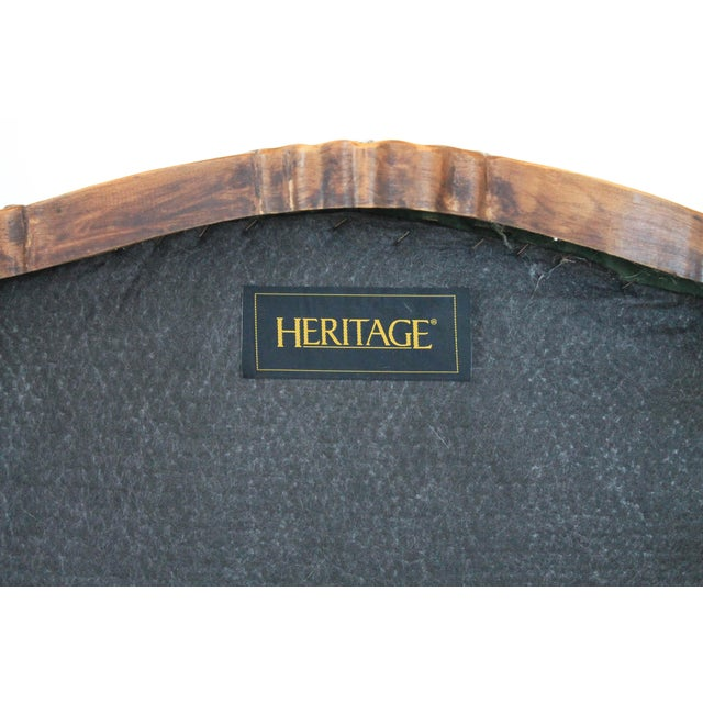 Textile Velvet French Provincial Ottoman or Footstool For Sale - Image 7 of 8