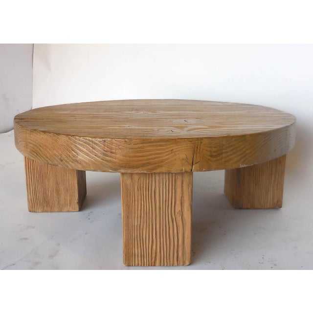 Reclaimed 3.5 inch thick beams form the top of this chunky coffee table. Legs are 7 inches square. Rustic, yet modern,...