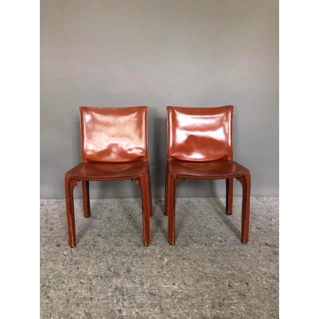 Cassina Mario Bellini for Cassina Cab 412 Chairs - a Pair For Sale - Image 4 of 10