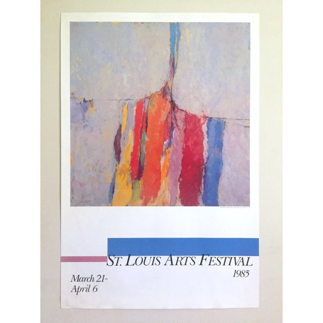 Arthur Osver Vintage 1985 Abstract Expressionist Lithograph Print St. Louis Arts Festival Exhibition Poster For Sale - Image 12 of 13