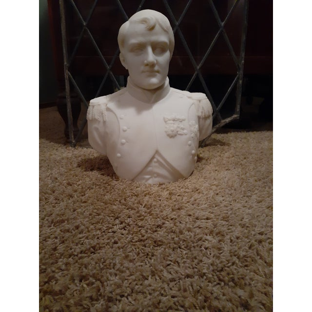 Wood White Marble Napolean Bonaparte Statue For Sale - Image 7 of 7