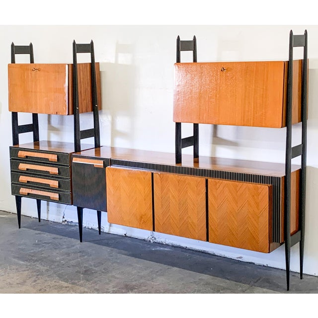 Large Italian Modern Wall Unit, Italy, 1950's For Sale In Phoenix - Image 6 of 11