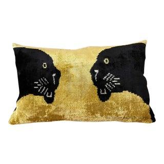 Silk Velvet Lumbar Pillow For Sale