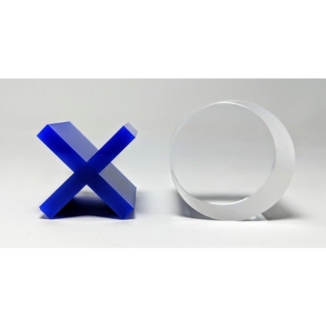 Jonathan Adler Lucite Tic-Tac-Toe Game Board For Sale - Image 4 of 13