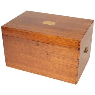 1900s English Traditional Camphor Trunk With Brass Hardware