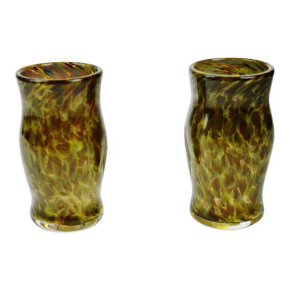 Hand-Blown Art Glass Vessels - A Pair - Image 11 of 11