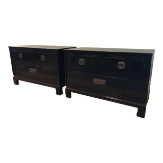 Pair of Mid-Century Davis Cabinet Co. Campaign Chests