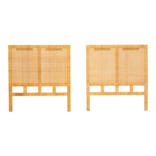 Single Twin Headboard in Woven Cane by Danny Ho Fong for Tropi-Cal For Sale