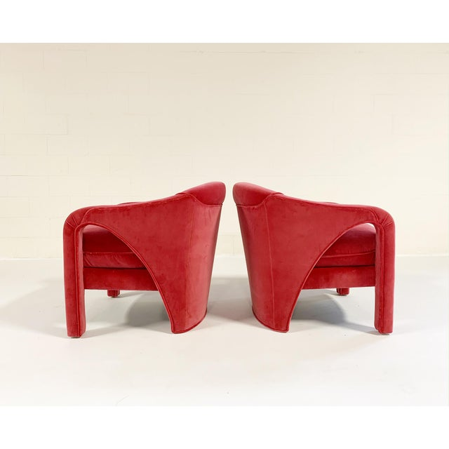 The sculptural lines of these chairs are what rooms are made of...a stunning design from all angles. Look at the back! We...