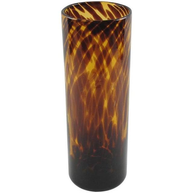 Empoli for Christian Dior Modernist Tortoiseshell Glass Tumbler Vase For Sale In Atlanta - Image 6 of 6