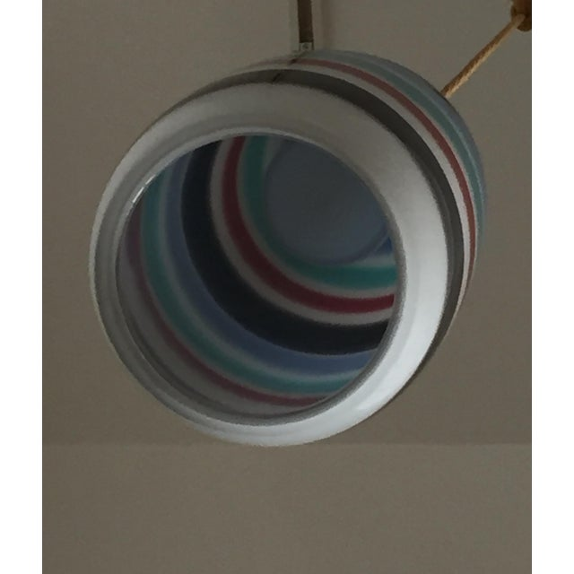 Massimo Vignelli Mid Century Striped Pendant Light For Sale - Image 4 of 7