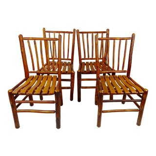 Old Hickory Original Vintage Rustic Chairs - Set of 4 For Sale