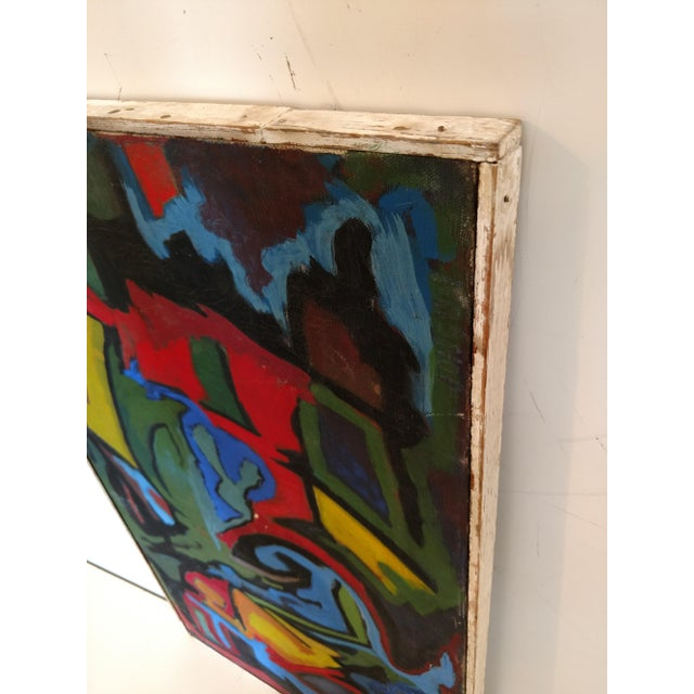 Edgar W. Johnson Mid-Century Abstract Painting For Sale - Image 5 of 8