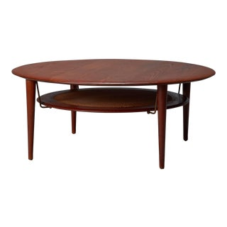 Fd 515 Round Sofa Table by Peter Hvidt & Orla Mølgaard Nielsen for France & Son For Sale